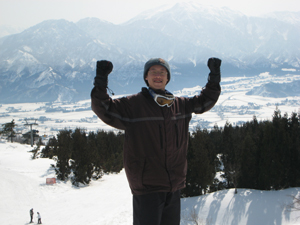 スキー研修風景
