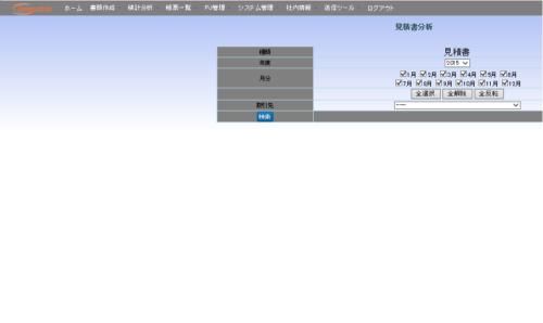 営業支援分析システム_見積書分析画面